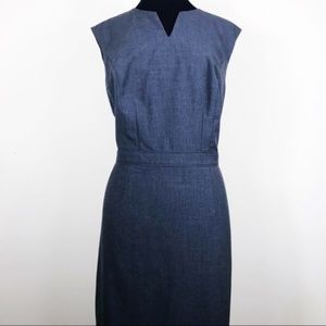 The Limited Charcoal Grey Sleeveless Sheath Dress